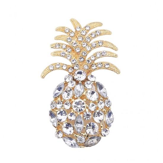 Altın Renk Ananas Broş